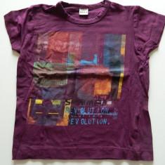 Tricou pentru copii, unisex, marimea 4 ani, calitate superioara, IKKS, 98-104 cm, REDUS ACUM!, Culoare: Visiniu