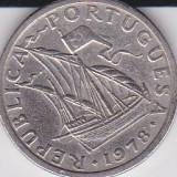 PORTUGALIA 2, 50 ESCUDOS 1978 KM# 590, Europa
