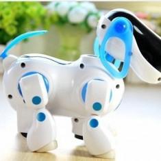 CATEL ROBOTIC SENZATIONAL. CADOU MINUNAT, CATELUL ROBOT, MERGE, DA DIN COADA, SUNETE, LUMINI. - Roboti de jucarie