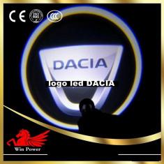 Proiectoare Led Laser Logo cu leduri cu marca DACIA si alte marci disponibile. SET 2 BUCATI PROIECTOARE LOGO MARCA AUTO+FREZA INCLUSA.