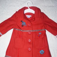 Palton fetite 6-9 luni John Lewis superb, Culoare: Rosu, Rosu