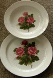 Set / Serviciu - farfurii / masa  - portelan Bavaria - Winterling Markleuthen - 1952 - Trandafiri