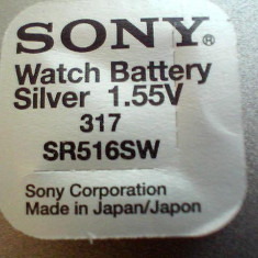 Baterie ceas Sony, cu argint 317-SR516SW, dar si celelalte numere.