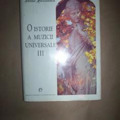 O istorie a muzicii universale(volumul 3, cartonat)-Ioana Stefanescu - Carte Arta muzicala