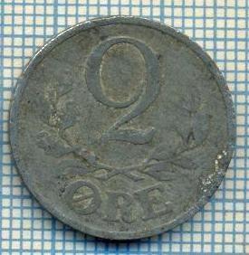 2943 MONEDA  - DANEMARCA  - 2 ORE - anul 1944 -starea care se vede