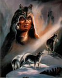 235.Poster - Native american wolves 33,02-48,26
