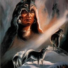 235.Poster - Native american wolves 33, 02-48, 26 - Afis