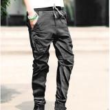 Pantaloni casual model deosebit - Pantaloni barbati, Marime: 30, 31, 32, Culoare: Albastru, M, Lungi, Bumbac