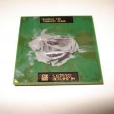 Procesor laptop Intel Pentium M 730 2M Cache, 1.6 GHz, FSB 533 MHz, 1500- 2000 MHz, Numar nuclee: 1, Socket: 478