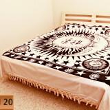 Cuvertura din Bumbac 100% cu Imprimeu Ethic - ( 210cm / 240cm ) - Model 20 - Cuvertura pat