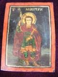 Icoana romaneasca veche cu doua fete Sf Dimitrie si Sf. Paraschieva