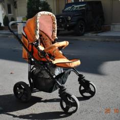 Carucior copii 2 in 1 Mystroll SI ACCESORII PALOMA SUNSHINE, Pliabil, Portocaliu