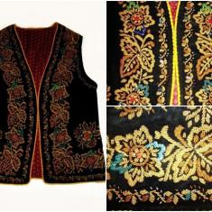 Vesta populara (ilic) - Costum populare, Marime: S/M, Culoare: Negru, S/M, Negru
