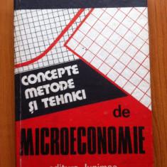 CONCEPTE, METODE SI TEHNICI DE MICROECONOMIE - P. MALCOMETE, G. Medrihan, V. Munteanu
