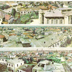 CPI (B3081) BUCURESTIUL DE ODINIOARA, VEDERE PANORMICA DIN TURNUL COLTEI, ACUARELA DUPA O FOTOGRAFIE DE CAROL POP DE SZATHMARY, NECIRC., BUCURESTI - Carte Postala Muntenia dupa 1918, Necirculata