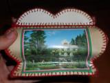 RAR!! Frumoasa Cutie de ace din carton veche, Suvenir din statiune,Anii 80-90. (Baile Herculane,Felix,Tusnad,Govora,Caciulata,Sovata,Slanic Moldova)