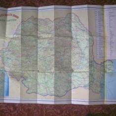 Harta turistica - Republica Socialista Romania - R.S.R. - Harta Romaniei