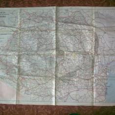 Harta Republicii Socialiste Romania - R.S.R. - Harta Romaniei