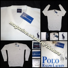 PULOVER ALB DAMA GEN FIRMA POLO by RALPH LAUREN ANCHIOR 100% BUMBAC NEW EDITION - Pulover dama, Marime: L, XL, XXL