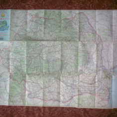 Harta turistica-rutiera Romania - Harta Romaniei