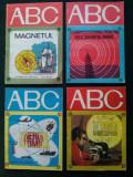 """Lot  4 carticele """" ABC""""  Energia atomica, In lumea microscopului, Magnetul, Tele...cuvantul magic, Alta editura"""