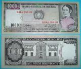 + Bancnota UNC Bolivia 1000 pesos bolivianos 1982 +