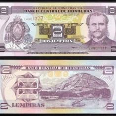 + Bancnota AN RAR UNC Honduras 2 lempiras 2001 +