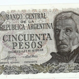 + Bancnota UNC Argentina 50 pesos 1976-1978 +