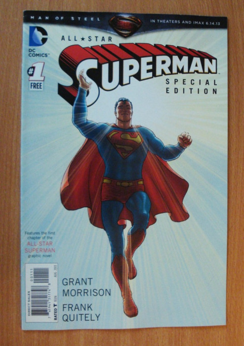 Superman All Star #1 Special Edition . DC Comics foto mare