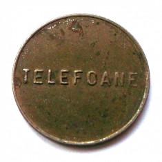 ROMANIA FISA JETON CONTROL (TELEFOANE scris mic) DIMENSIUNE 27 mm ** - Jetoane numismatica, An: 1975