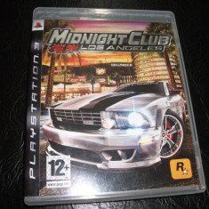 Joc Midnight club LA, PS3, original, alte sute de jocuri! - Jocuri PS3 Rockstar Games, Curse auto-moto, 12+, Multiplayer