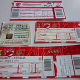 Lot bilete meci fotbal DINAMO Bucuresti - STEAUA Bucuresti - Bilet meci