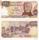 + Bancnota UNC Argentina 1000 pesos 1983 +