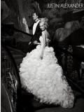 Rochie mireasa JUSTIN ALEXANDER cu perle si pietre swarovski, Rochii de mireasa printesa