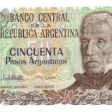 + Bancnota UNC Argentina 50 pesos 1983-1985 +