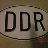 Placa metalica auto din fostul DDR
