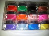 Gel Unghii colorat Set 12 geluri color , Gel UV colorat 12 cutii, Gel colorat pentru unghii false Set geluri colorate 12buc NOU