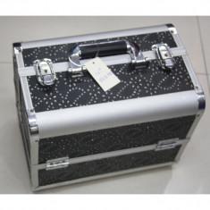 Geanta cosmetica Beauty Case din aluminiu, geanta de make-up