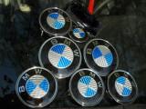 Embleme bmw carbon 3d real la set de 7 bucati de culoare albastra