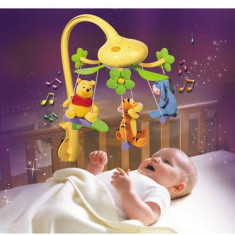 Carusel muzical electric cu jucarele din plus pt bebelusi (CEL MAI IEFTIN) - Carusel patut