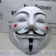 Masca V for Vendetta, Guy Fawkes Anonymous noi Alb plastic de calitate! PROMOTIE
