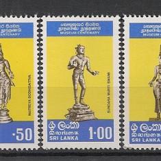 Sri Lanka.1977 100 ani Muzeul Colombo-Statuete de bronz HL.111 - Timbre straine