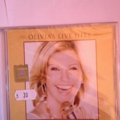 """OLIVIA NEWTON JOHN - OLIVIA""""S LIVE HITS (2008/EMI REC/GERMANY) cd nou/sigilat - Muzica Pop emi records"""