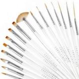 Pensule profesionale 15/SET nail art manichiura pedichiura unghii false FRAULEIN