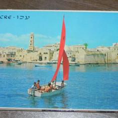 MAPA PLIANT 10 carti postale ACRE ISRAEL. vederi. ilustrate. necirculate