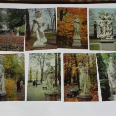 LOT 18 CARTI POSTALE STATUI LENINGRAD RUSIA URSS.necirculate. ilustrate arta. vederi - Carte postala tematica