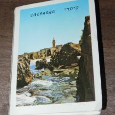 MAPA PLIANT 15 carti postale CAESAREA ISRAEL. vederi. ilustrate. necirculate