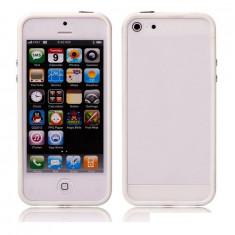 Bumper IPHONE 5 Marginile ALBE mijloc transparent - Bumper Telefon