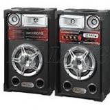 SISTEM 2 BOXE ACTIVE/AMPLIFICATE CU MIXER INCLUS, MP3 PLAYER, 200 WATT P.M.P.O, EFECTE KARAOKE+2 MICROFOANE BONUS! - Echipament karaoke