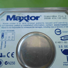 HDD 250GB Maxtor DiamondMax Plus 9 ATA IDE - DEFECT - Hard Disk Maxtor, 200-499 GB, Rotatii: 7200, 8 MB